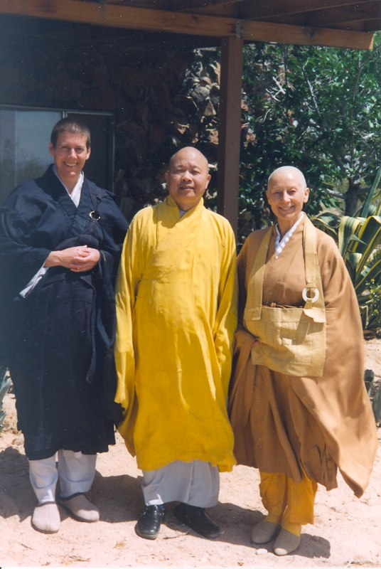 Thich Man Giac with Prabhasa Dharma zenji and Udaka (now Jiun roshi)