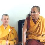 Prabhasa Dharma zenji with the Dalai Lama, 1986