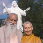 Prabhasa Dharma zenji with Swami Sri Sachidananda