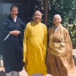 Prabhasa Dharma zenji with Udaka (Jiun roshi) and Thich Man Giac